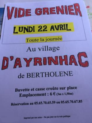 Vide-greniers de Bertholène