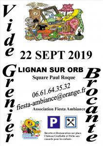 9ème VIDE GRENIER A LIGNAN SUR ORB (34490)