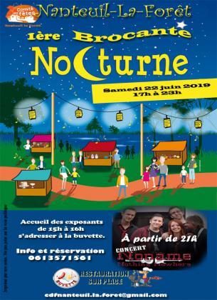 1 ère Brocante nocturne de Nanteuil-La-Forêt