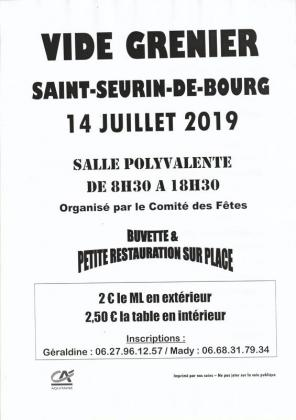 Vide-greniers de Saint-Seurin-de-Bourg