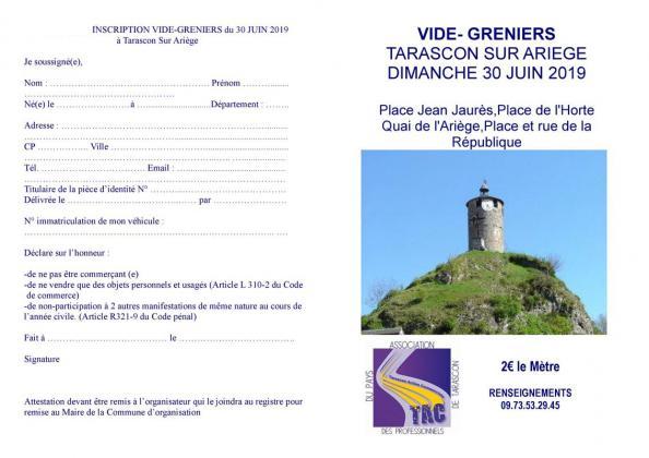 Vide-greniers de Tarascon-sur-Ariège
