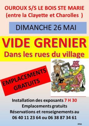 Vide-greniers - Ouroux-sous-le-Bois-Sainte-Marie
