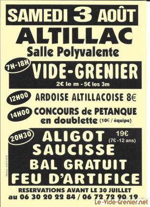 Vide-greniers - Altillac