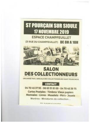 Salon des collectionneurs de Saint-Pourçain-sur-Sioule