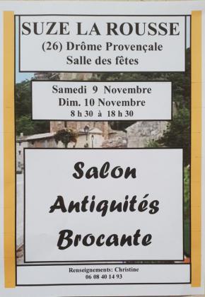 Salon antiquités brocante collection de Suze-la-Rousse