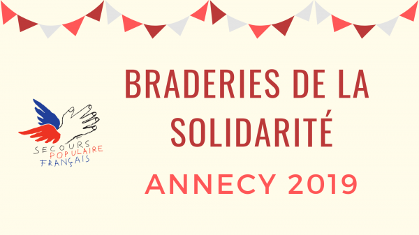 Braderie solidaire du Secours Populaire - Annecy
