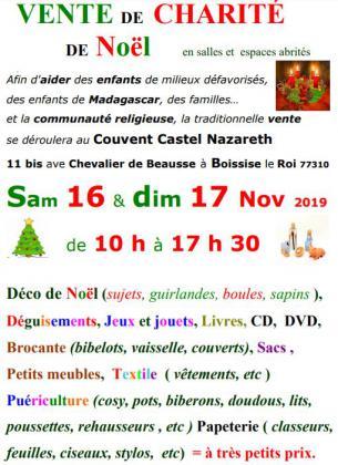 Vente de charité de Noël à Boissise-le-roi