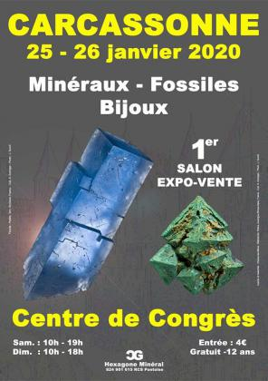 Salon minéraux fossiles bijoux de Carcassonne