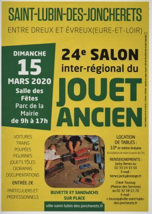 24° Salon Inter-Régional du Jouet Ancien - St Lubin (28) - 15/03/2020
