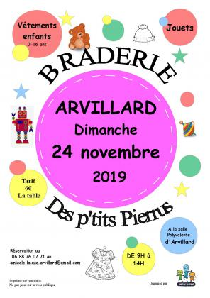 Braderie des petits Pierrus - Arvillard