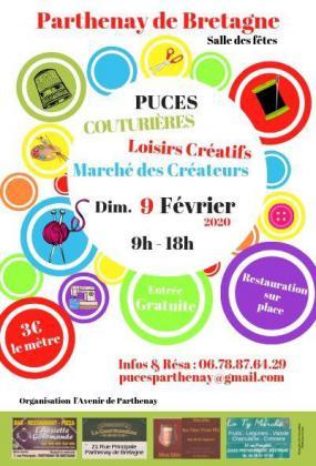 Puces Couturières, Loisirs Créatifs de Parthenay-de-Bretagne