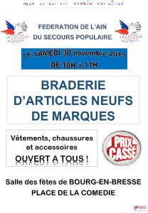 Braderie de la Fédération de l'Ain du Secours populaire français