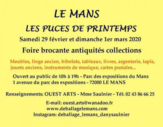 Les Puces de Printemps - Antiquités Brocante - Le Mans