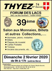 Bourse aux monnaies, billets et autres collections de Thyez