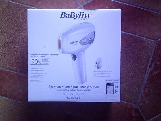 Epilateur laser durable Babyliss Homelight pulsée