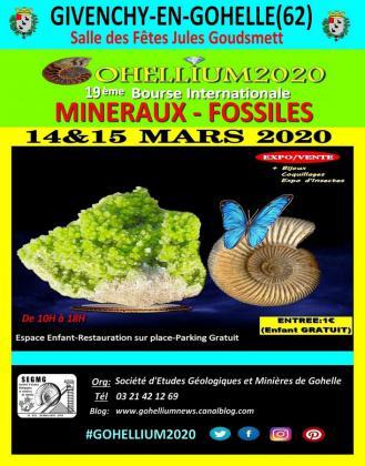 GOHELLIUM2020, 19ème Bourse Internationale Minéraux-Fossiles