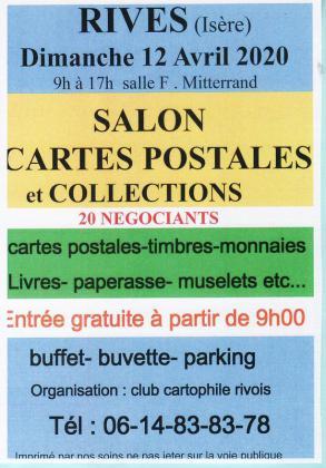 Salon cartes postales et collections de Rives
