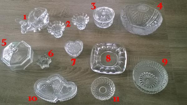 Ensemble décoratif en verre