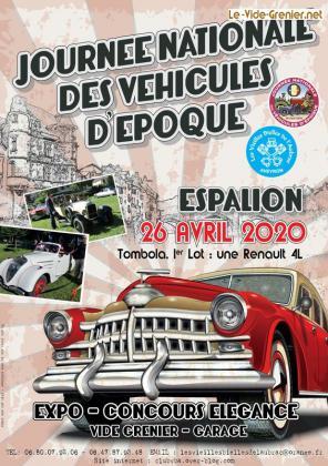 Journée nationale des vehicules d'epoque - Espalion