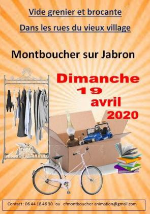 Brocante Vide-greniers de Montboucher-sur-Jabron