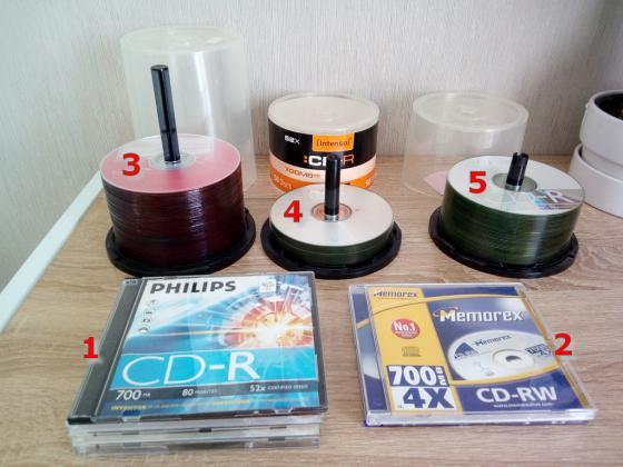 Lot CD CD-RW DVD