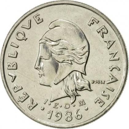 Pièce 10 francs Nouvelle Calédonie