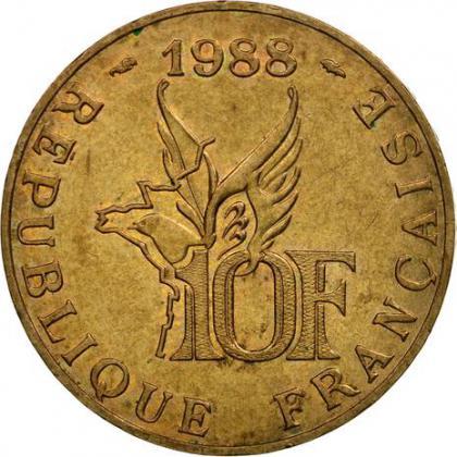 Pièce 10 francs Roland Garros