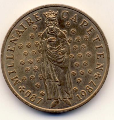 Pièce de 10 Francs millénaire Capécien