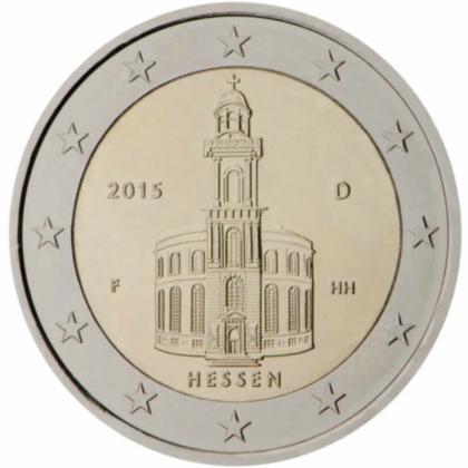 2 EUROS commémoration ALLEMAGNE 2015 - HESSE