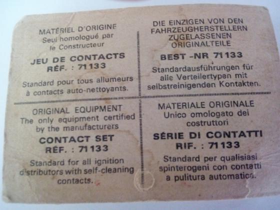 Rupteur - Vis platinées DUCELLIER 71133