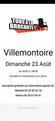 Brocante de Villemontoire
