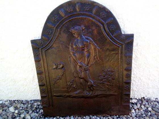 Ancienne plaque cheminée en fonte