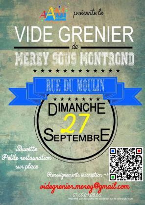 Vide-greniers de Mérey-sous-Montrond