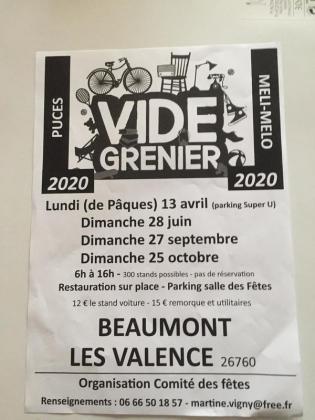 Brocante Vide-greniers de Beaumont-lès-Valence