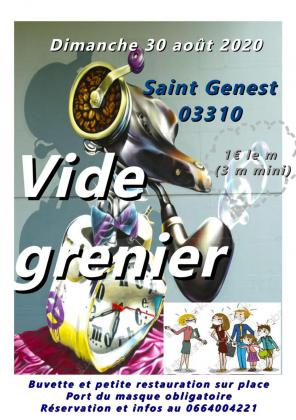 Vide grenier 03310 saint genest