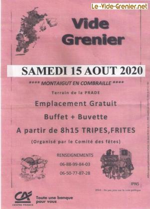 Vide-greniers de Montaigut en Combraille
