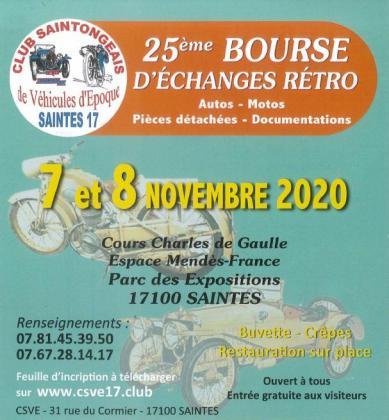 Bourse d'échanges Autos Motos de Saintes