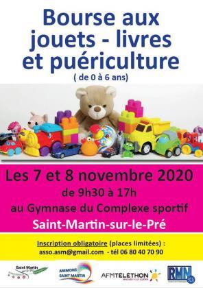Bourse aux jouets - livre - puériculture de Saint-Martin-sur-le-Pré