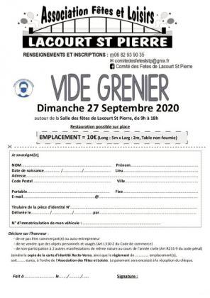 Vide-greniers de Lacourt-Saint-Pierre