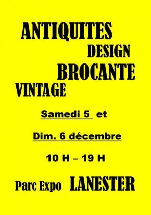 Salon Antiquités Design Brocante Vintage de Lanester