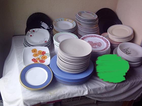 Lots Assiettes à Dessert, Plates et à Soupe