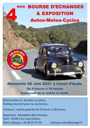 Bourse-Expo de pièces autos, motos, cyclos de Canet d'Aude