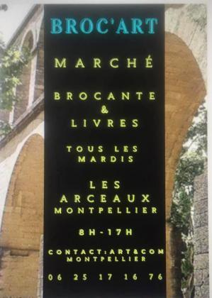 Marché Broc art de Montpellier