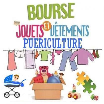 Bourse aux jouets, puériculture de Boé