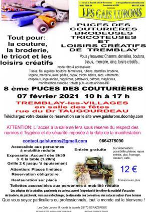 Puces des couturières, tricoteuses de Tremblay-les-Villages
