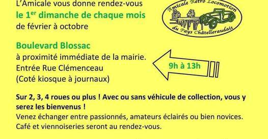 Rassemblement mensuel de véhicules de collection de Châtellerault