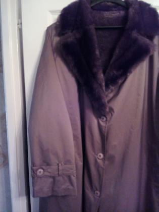 Manteau imperméable doublé