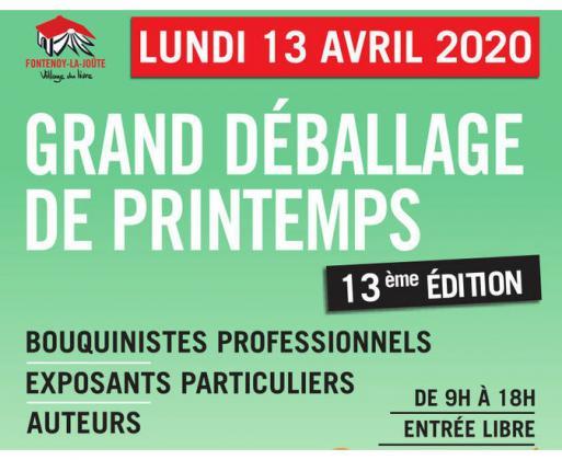 Grand Déballage de Printemps de Fontenoy-la-Joûte
