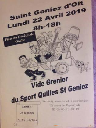 Vide-greniers de Saint Geniez d'Olt et d'Aubrac