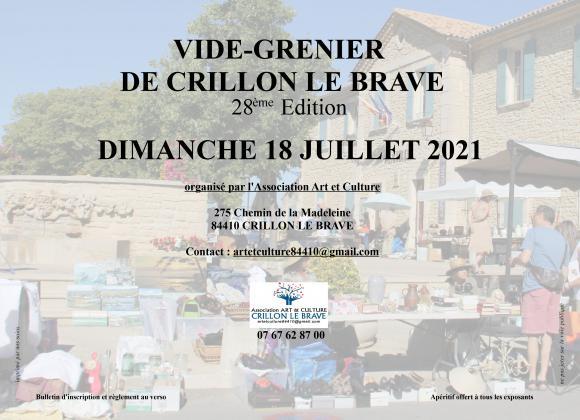 28ème vide-greniers de Crillon le Brave Vaucluse
